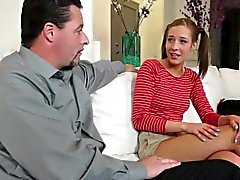 Molly Manson rides step dads cock like a veteran