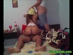 Amateur Turkish Girl In A Threesome