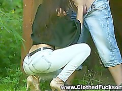 Bekleidete Geschlecht Freien Jeans