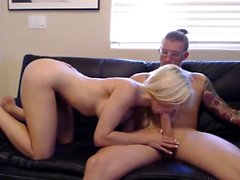 Blonde babe Alexis Texas takes a big fat dick doggystyle