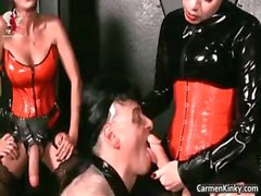Kinky dude is sex slave to weird part6