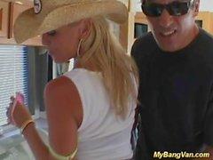 hot blonde babes first bangbus gangbang