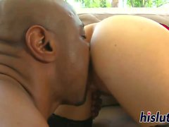 Sexy Asian hooker gets nailed by a black stud