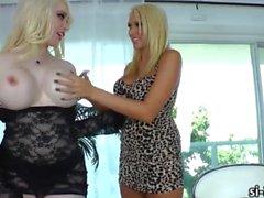 Tranny Sarina Valentina rips juicy pussy