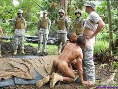 Soldiers nude in film mens gay Jungle tear up fest