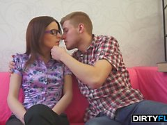 Dirty Flix - Cumshot on nerdy glasses