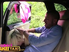 Female Fake Taxi Italian tourist fucks sexy busty blonde