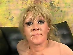 Blonde Dirtbag Ruby Octroi Gagging On Dick During Threesome