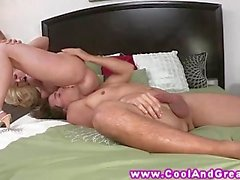 Blonde MILF knows how to please guy