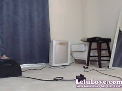 Lelu Love-WEBCAM: BTS Riding Sybian In Catsuit