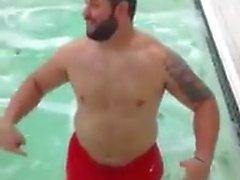 nude footballplayer icebox
