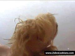 Zebra Lesbians - Sexy lesbian ebony fuck with strapon 11