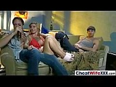Esposa de engaño atractiva (kleio valentien) goza en la Ley Sexo duro cámara de cine-18