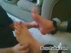 tickle chair male feet
