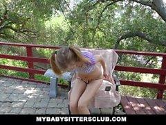 MyBabySittersClub - Petite Baby Sitter Caught Masturbating