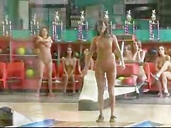 Naked Bowling Battle With Cassia Riley & Vivian Chase!