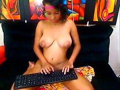 Jina from 1fuckdatecom - Big tit colombian webcam babe