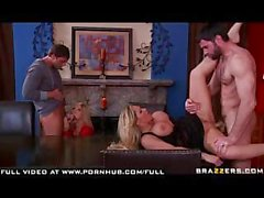 Big tit blonde MILF swing each others husbands and have a foursom