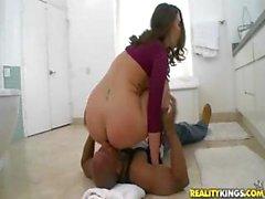 Bubble butt brunette, Paige Turnah, gets her big ass slammed