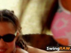 Egzotik swinger güzellik olduğunu ravaging BBC istiyor