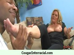 Cougar gets black monster cock for her pleasure 16