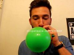 Balloon Fetish - Adam Rainman Balloons Video 4