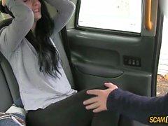 Alessas wet adventure in the cab