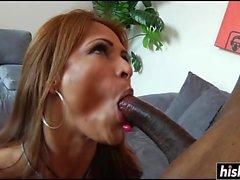 Monique Fuentes likes a black cock