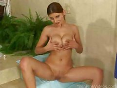 Busty Simi Works Her Pussy Deep