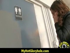Gloryhole cock sucking interracial 8