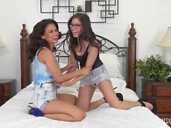 Shyla and Vanessa Having Some Lez Fun On Cam!