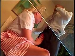 Sexy blond tonåring avdrivaren Ridning kåta sugar daddy