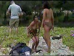 Desi Jungle Mein Mangal Hot Fuck in Group_K O A