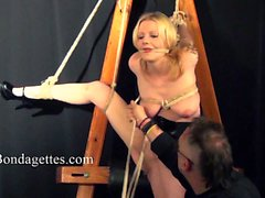 Blonde bondage babe Weekay