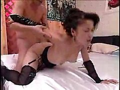 Striking Asian babe in hot lingerie gets the deep fucking s