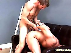 Bound muscly hunk ass fingered