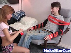 Cuckolding eurobabe fucked after oral action