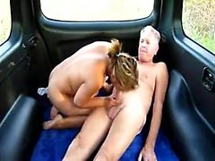 Dirty old man has wild sex with a beautiful young hooker in the car