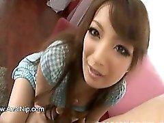 De fumée schoolgirl Asian petit robinet