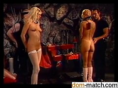 Hot orgy in the BDSM dungeon - She is on dom-match