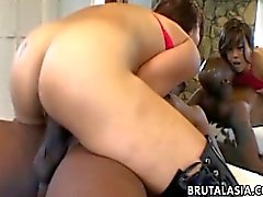 Fetching Asian cutie enjoys a huge black dong