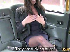 Backseat banging for hot Romanian babe