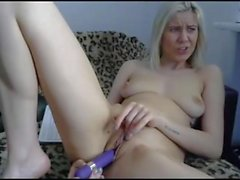 Young blonde girl ass fucking squirting on webcam