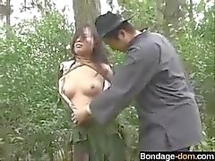 Chinese army girl tied to tree 2 - bondage-dom