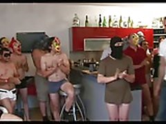 beauty young wife get a gangbang