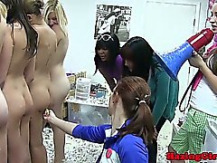 Group of naked lesbo teen coeds hazed