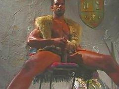 Fur clad black strongman