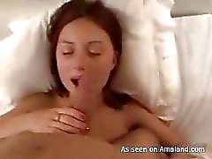 Beauty bounces on penis