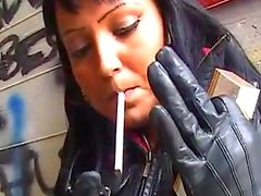 Smoking Leathergirls Bloopers.