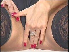 Incroyable Veronica Zemanova en lingerie noire